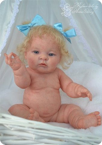 Здравствуйте, девочки-мастерицы!! Рада представить вашему вниманию малышку Лерочку. Рост куколки 35 см, вес около 1 кг. Расписана красками генезис, волосики-мохер, вживлены. фото 11
