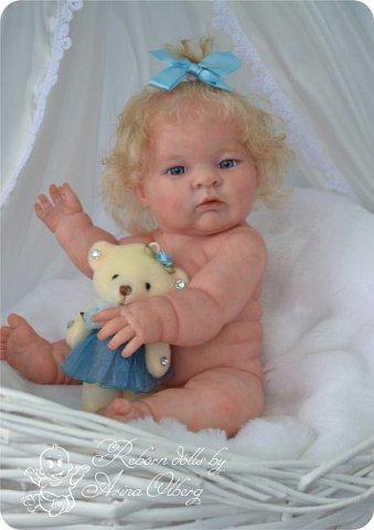 Здравствуйте, девочки-мастерицы!! Рада представить вашему вниманию малышку Лерочку. Рост куколки 35 см, вес около 1 кг. Расписана красками генезис, волосики-мохер, вживлены. фото 13