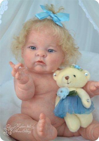 Здравствуйте, девочки-мастерицы!! Рада представить вашему вниманию малышку Лерочку. Рост куколки 35 см, вес около 1 кг. Расписана красками генезис, волосики-мохер, вживлены. фото 14