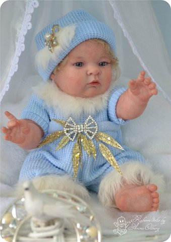 Здравствуйте, девочки-мастерицы!! Рада представить вашему вниманию малышку Лерочку. Рост куколки 35 см, вес около 1 кг. Расписана красками генезис, волосики-мохер, вживлены. фото 16