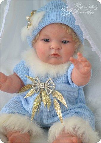 Здравствуйте, девочки-мастерицы!! Рада представить вашему вниманию малышку Лерочку. Рост куколки 35 см, вес около 1 кг. Расписана красками генезис, волосики-мохер, вживлены. фото 17