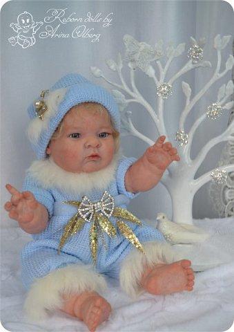 Здравствуйте, девочки-мастерицы!! Рада представить вашему вниманию малышку Лерочку. Рост куколки 35 см, вес около 1 кг. Расписана красками генезис, волосики-мохер, вживлены. фото 18