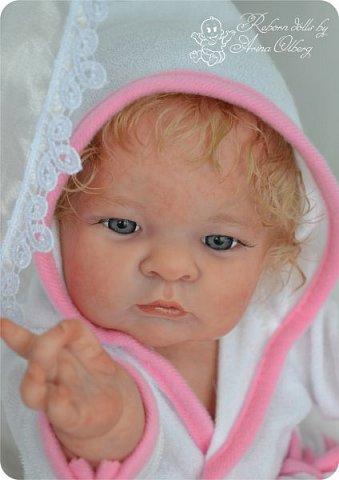 Здравствуйте, девочки-мастерицы!! Рада представить вашему вниманию малышку Лерочку. Рост куколки 35 см, вес около 1 кг. Расписана красками генезис, волосики-мохер, вживлены. фото 20