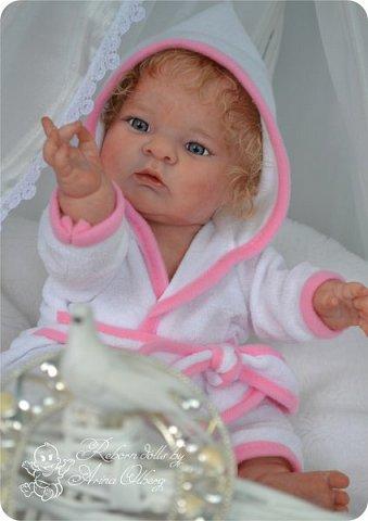 Здравствуйте, девочки-мастерицы!! Рада представить вашему вниманию малышку Лерочку. Рост куколки 35 см, вес около 1 кг. Расписана красками генезис, волосики-мохер, вживлены. фото 22