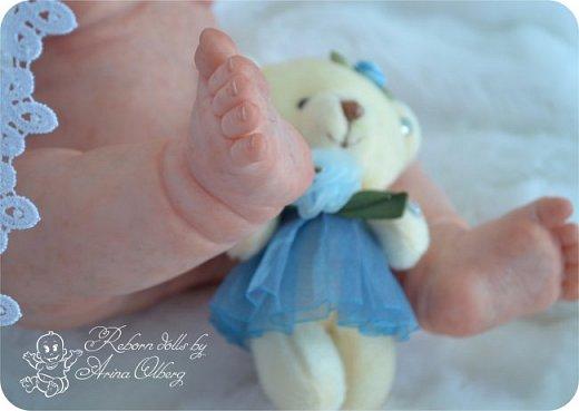 Здравствуйте, девочки-мастерицы!! Рада представить вашему вниманию малышку Лерочку. Рост куколки 35 см, вес около 1 кг. Расписана красками генезис, волосики-мохер, вживлены. фото 23