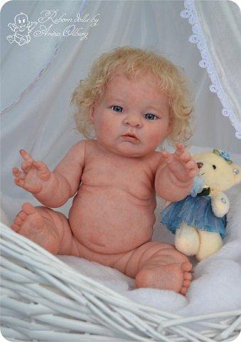 Здравствуйте, девочки-мастерицы!! Рада представить вашему вниманию малышку Лерочку. Рост куколки 35 см, вес около 1 кг. Расписана красками генезис, волосики-мохер, вживлены. фото 1