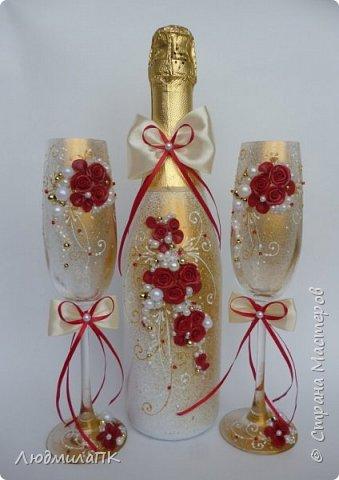 Свадебный набор Цвет марсала в золоте фото 1
