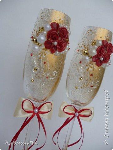 Свадебный набор Цвет марсала в золоте фото 4