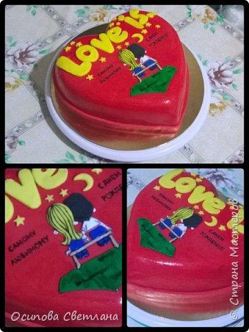 Здравствуй, Страна Мастеров)  Я хоть и сама жуткая сластёна и безумно люблю тортики, делаю их, к сожалению, не очень часто.  Подготовила вот такую партию тортов)   Торт Love is...  фото 1