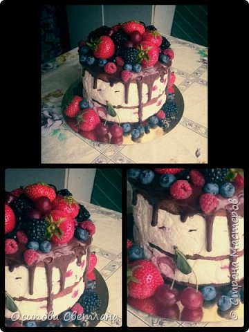 Здравствуй, Страна Мастеров)  Я хоть и сама жуткая сластёна и безумно люблю тортики, делаю их, к сожалению, не очень часто.  Подготовила вот такую партию тортов)   Торт Love is...  фото 7