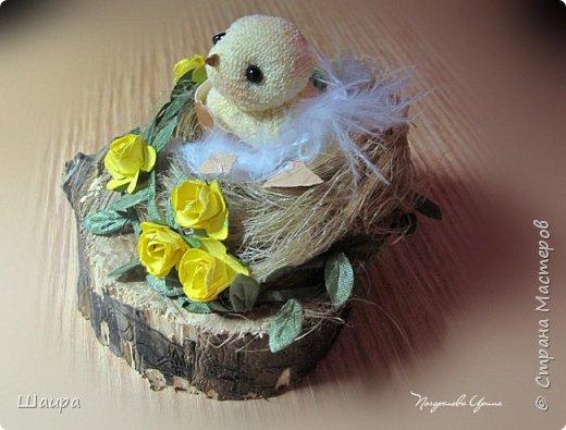 Цыплят наделала http://stranamasterov.ru/node/1022337.  Теперь буду вить гнезда из пакли. Украшать различными цветами и травкой, чтобы у цыплят были красивые домики. фото 3