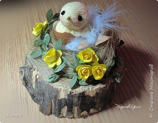 Цыплят наделала http://stranamasterov.ru/node/1022337.  Теперь буду вить гнезда из пакли. Украшать различными цветами и травкой, чтобы у цыплят были красивые домики. фото 4