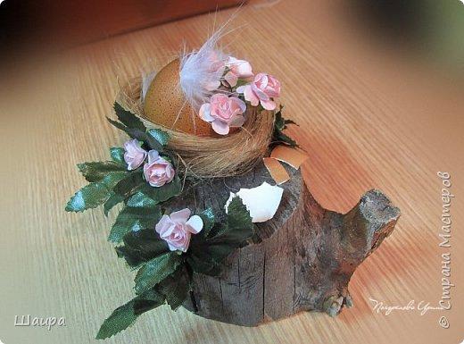 Цыплят наделала http://stranamasterov.ru/node/1022337.  Теперь буду вить гнезда из пакли. Украшать различными цветами и травкой, чтобы у цыплят были красивые домики. фото 9