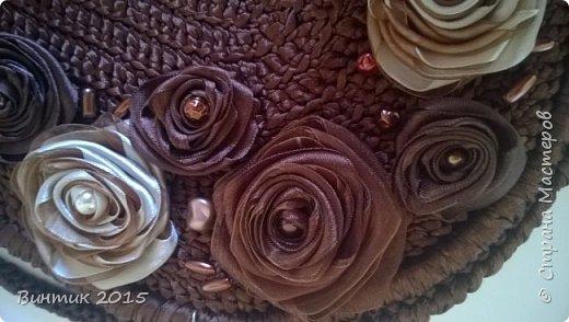 """Сумка из атласных лент: """"Мой шелковый шоколад"""" фото 5"""