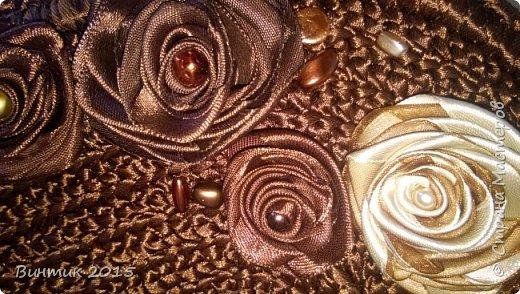 """Сумка из атласных лент: """"Мой шелковый шоколад"""" фото 6"""