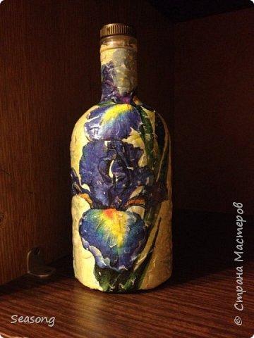 Ирисы (Панно и ваза) фото 1