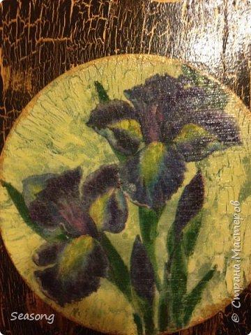 Ирисы (Панно и ваза) фото 4