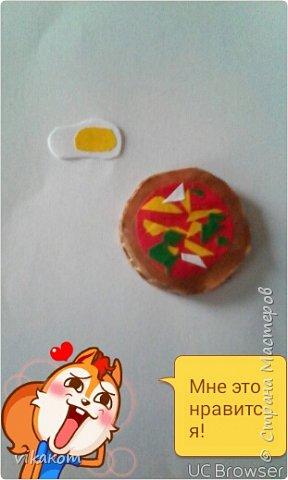 Привет всем !Сегодня я покажу вам как сделать вот такие пиццу и яичницу для кукол . фото 1