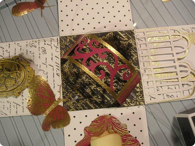 Продолжаю показ.... На 8 марта нужно было что то делать для подарков, и что то быстрое и качественное, и вспомнились мне Олины магнитики..  вот такие у Олюшки были в разработке, http://stranamasterov.ru/node/742304  и я приступила... какая была бумага в заначке с такой и делала... фото 57