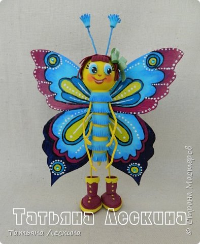 Доброго времени суток всем гостям! Представляю вашему вниманию мою новую куколку- Бабочку-кокетку. Решила я сделать для себя куколку- талисман, вот и родилась на свет эта красотка. фото 6