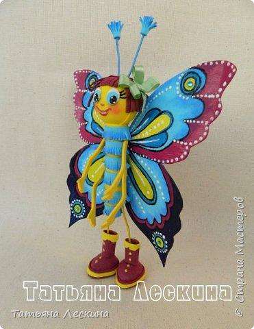 Доброго времени суток всем гостям! Представляю вашему вниманию мою новую куколку- Бабочку-кокетку. Решила я сделать для себя куколку- талисман, вот и родилась на свет эта красотка. фото 7
