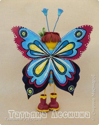 Доброго времени суток всем гостям! Представляю вашему вниманию мою новую куколку- Бабочку-кокетку. Решила я сделать для себя куколку- талисман, вот и родилась на свет эта красотка. фото 9