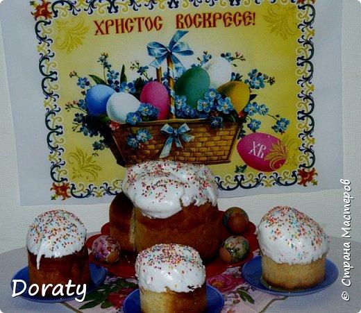 Приветствую вас дорогие жители Страны! В преддверии великого праздника Пасхи спешу поделиться с вами рецептом пасхального кулича. Рецептом поделилась моя мама. Поэтому авторство указать не могу (скорей всего рецепт взят из кулинарного журнала  или книги).  Итак начнем Мука - 12 стаканов Яйцо - 7 шт Молоко - 1 стакан Сахар - 2 стакана Масло сливочное растопленное - 0,5 стакана Чай (теплый) - 2 стакана Дрожжи (сухие)- 1 ст. л. Соль - 1 ч.л. Изюм - 0,5 стакана Дрожжи развести в теплом молоке добавить яйцо, соль, мука - замесить густое тесто. И поставить подходить в теплое место. Когда подойдет влить масло, чай, сахар, изюм месить до появления пузырей. Оставить подходить на 1 час. Тесто готово раскладываем по формам  заполняем на 1/3  и выпекаем. И очень важно во время приготовления теста в помещении должно быть тепло это очень немаловажный фактор . Ну и конечно же хозяйка должна быть в хорошем расположении духа :)