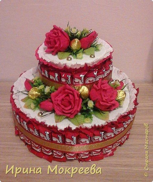 Сегодня доделала два больших торта ( высота 20 см и диаметр 32 см ) и хочу вам их показать. фото 1