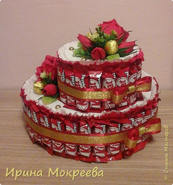 Сегодня доделала два больших торта ( высота 20 см и диаметр 32 см ) и хочу вам их показать. фото 3