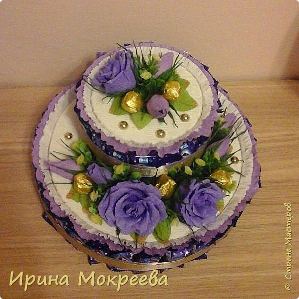 Сегодня доделала два больших торта ( высота 20 см и диаметр 32 см ) и хочу вам их показать. фото 5