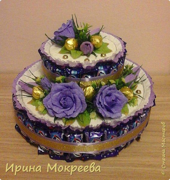 Сегодня доделала два больших торта ( высота 20 см и диаметр 32 см ) и хочу вам их показать. фото 4
