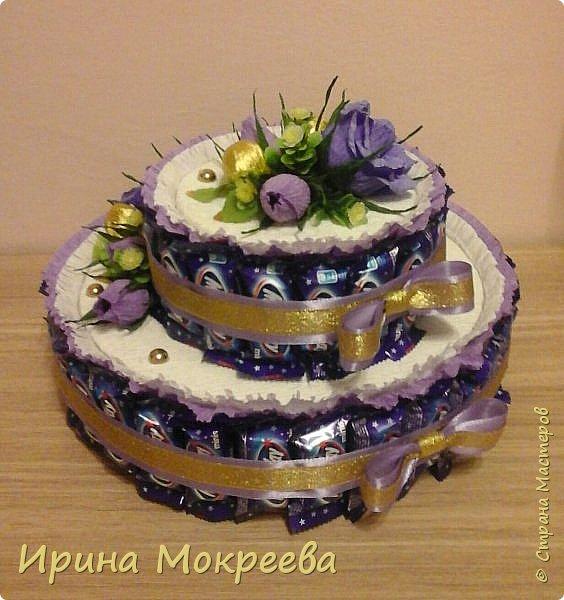Сегодня доделала два больших торта ( высота 20 см и диаметр 32 см ) и хочу вам их показать. фото 6