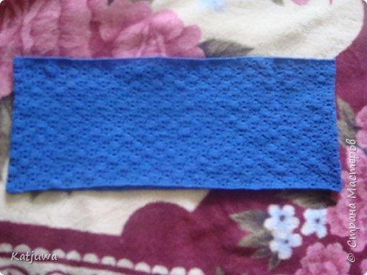 Шарф-снуд синего цвета фото 2