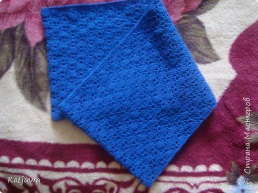 Шарф-снуд синего цвета фото 3