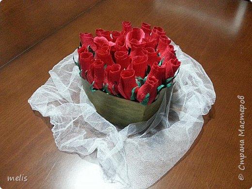 Корзинка роз от всего сердца фото 2