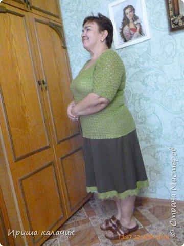 здравствуйте, дорогие мастерицы! хочу похвалиться своей переделкой, обновкой - было платье, верх подносился, низ жалко выбрасывать. отрезала ненужное и в ведро, а потом подобрала нитки, схему, крючок в руки и вот, что получилось! спасибо, за внимание!  фото 3