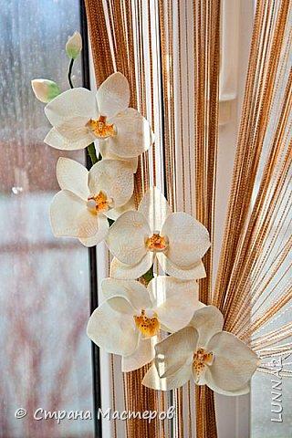 Мои первые подхваты (цветы) из фоамирана. Подхват-косичка был куплен в магазине, а цветочком решила дополнить. фото 7