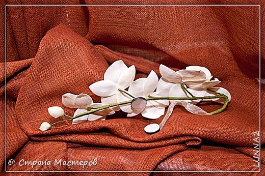 Мои первые подхваты (цветы) из фоамирана. Подхват-косичка был куплен в магазине, а цветочком решила дополнить. фото 8