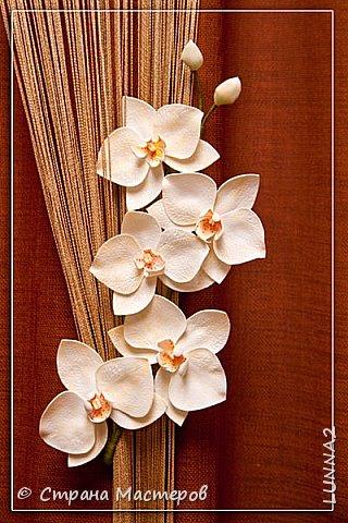 Мои первые подхваты (цветы) из фоамирана. Подхват-косичка был куплен в магазине, а цветочком решила дополнить. фото 10