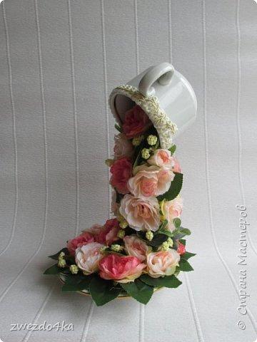 Доброго времени суток всем жителям СМ.. я к вам с новыми композициями.. Вот такая чашечка с цветами шиповника.. фото 2