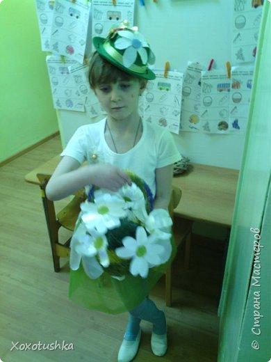 """Моя девочка в шляпке))) Вот что получилось. Моделировала костюм на конкурс-дефиле в номинации """"костюм Ромашки"""".  фото 6"""