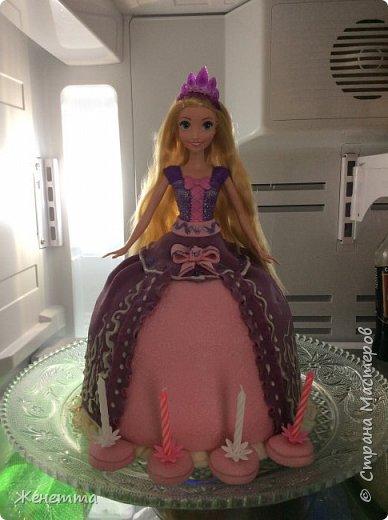 """Торт-кукла """"Рапунцель"""" для моей доченьки на день рождения! Делала полностью сама!! фото 1"""