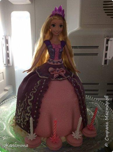 """Торт-кукла """"Рапунцель"""" для моей доченьки на день рождения! Делала полностью сама!! фото 2"""