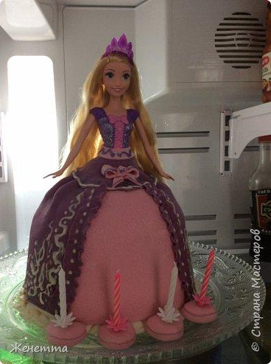 """Торт-кукла """"Рапунцель"""" для моей доченьки на день рождения! Делала полностью сама!! фото 3"""