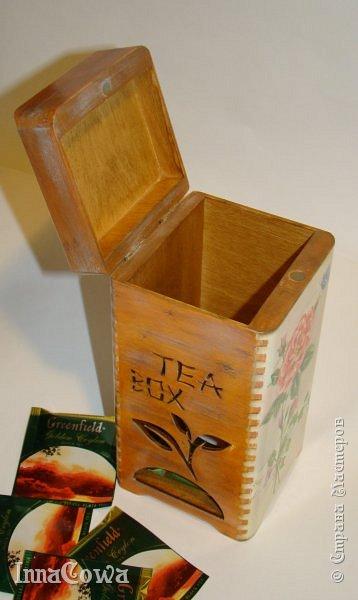 Всем здравствуйте!  Накопилось у меня не много работ, которыми хотелось бы с вами поделиться. Это короб для чайных пакетов, был сделан в марте в подарок на день рождения коллеге. фото 8