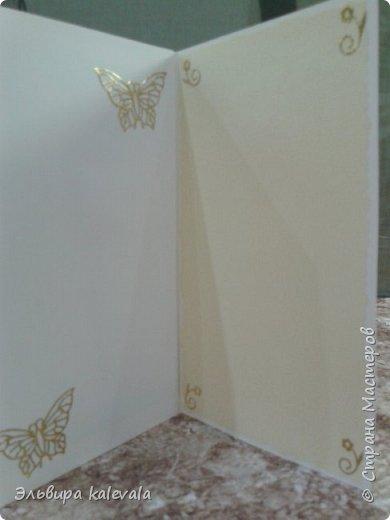 Открытка к 60-летию женщине. Цветочек магазинный.Бабочки на вспененном скотче. фото 6