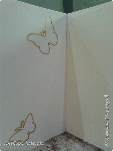 Открытка к 60-летию женщине. Цветочек магазинный.Бабочки на вспененном скотче. фото 8