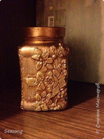 Текстурная баночка (лепка текстурной пастой) фото 1