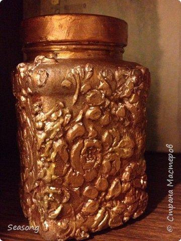 Текстурная баночка (лепка текстурной пастой) фото 2