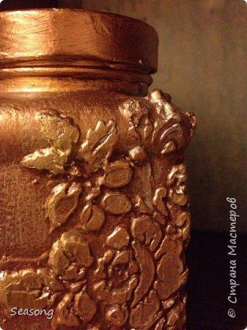 Текстурная баночка (лепка текстурной пастой) фото 4